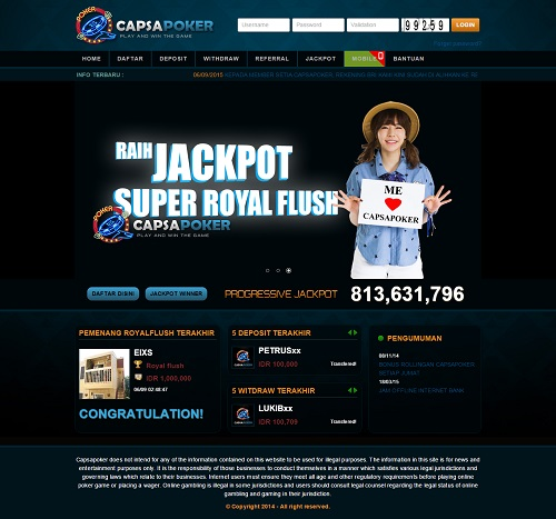 Capsapoker Agen Poker Bandar Ceme Online
