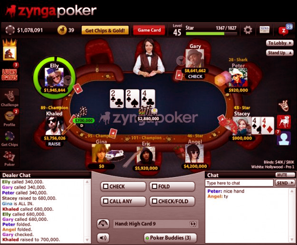 Poker Online zynga